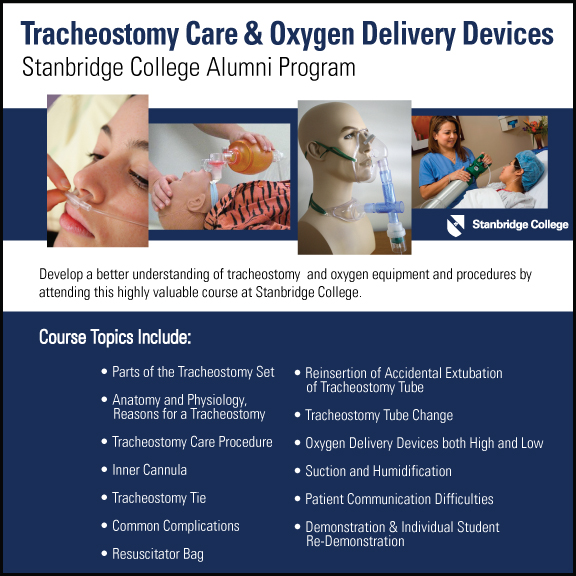 Stanbridge College Alumni Workshop - Tracheostomy Care & Oxygen Delivery Devices