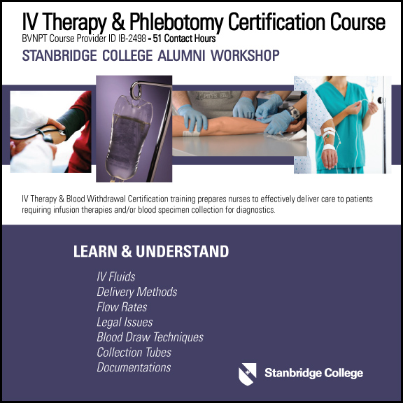 Iv Therapy Phlebotomy Certification Course Stanbridge College Blog