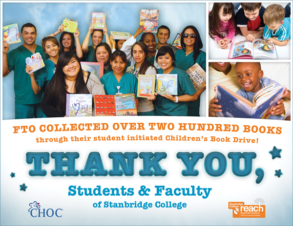 Reading the Rewards: Stanbridge Nursing Cohort FTO Gathers 200+ Children's Books for CHOC
