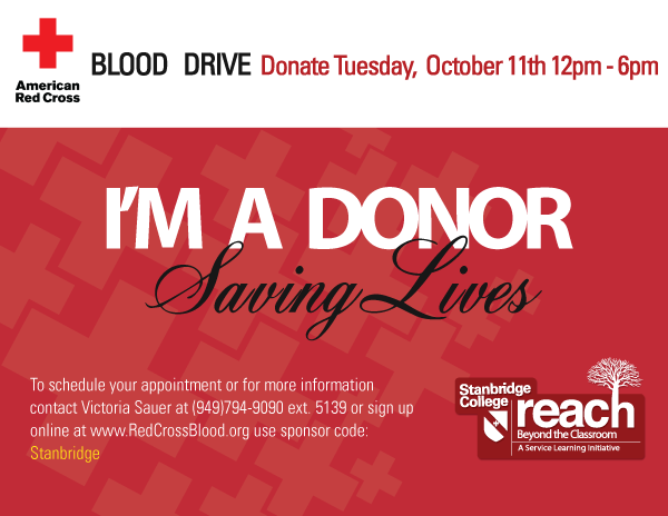October Blood Drive: Sign up today to support the Red Cross on 10/11