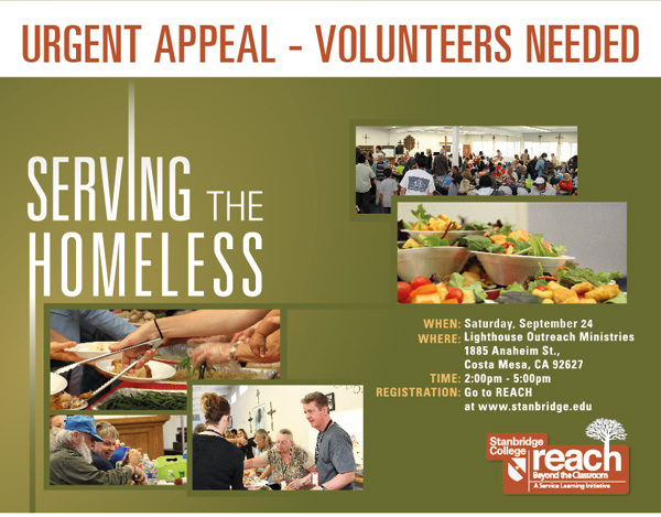 Be a Hero for those in Need: Serving the Homeless with Stanbridge College in September
