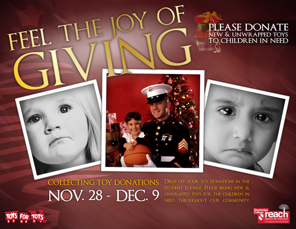 Announcing Christmas Toy Drive with Toys for Tots 11/28 – 12/9