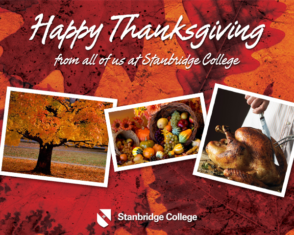 Happy Thanksgiving from Stanbridge College