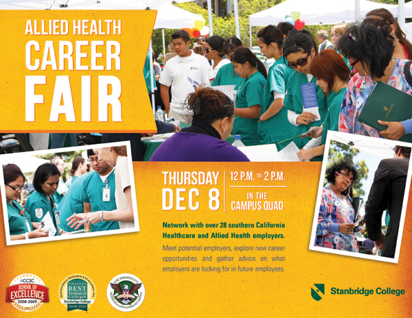 Stanbridge College Hosts Allied Health Career Fair on December 8th