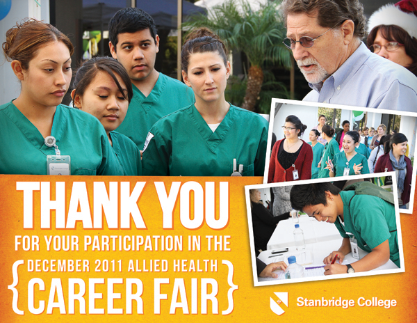 Want Work? Network. Stanbridge College Students Find Opportunities at the Allied Health Career Fair