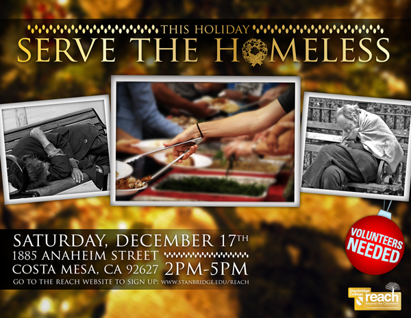 Serve the Homeless of Orange County with a Home-made Meal for the Holidays