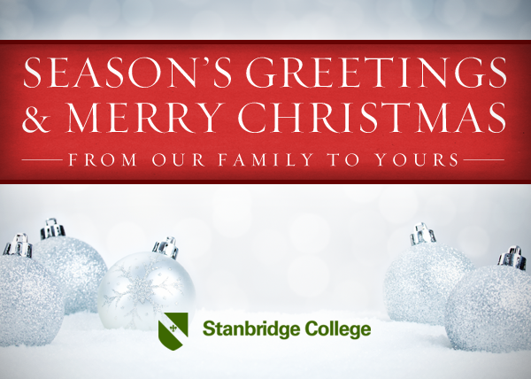 Happy Holidays and Happy New Year from Stanbridge College