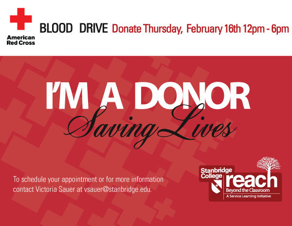 Be the Heartbeat of Those in Need: Stanbridge College March Blood Drive 3/26/12