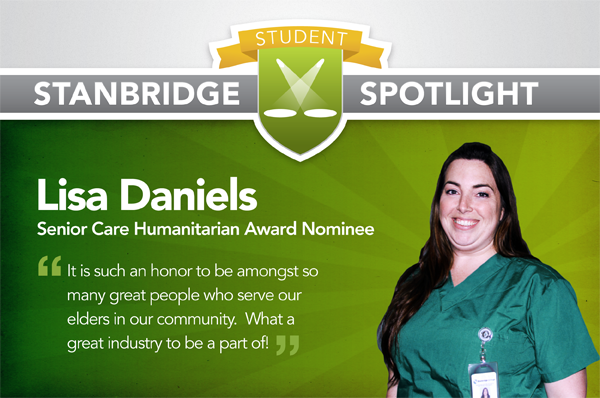 Stanbridge Spotlight: Nursing Student Nominated for Senior Care Humanitarian Award