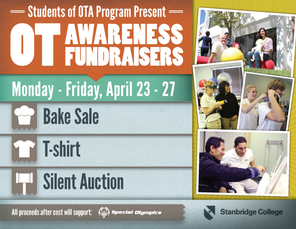 Occupational Therapy Awareness Fundraisers 4/23-4/27