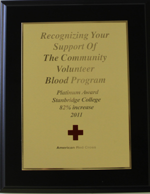 Stanbridge College Receives American Red Cross Platinum Achievement Award