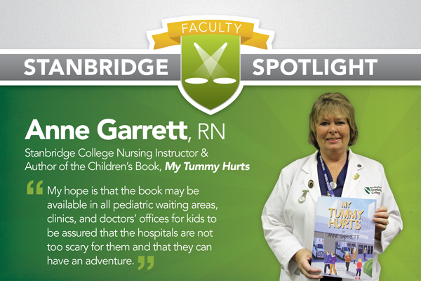Stanbridge Spotlight: Nursing Instructor Writes Children's Book for Upset Tummies