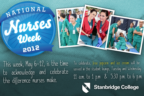 Stanbridge College Celebrates National Nurses Week 2012