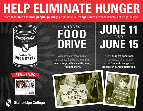 Starting 6/11 Canned Food Drive Week to Help Eliminate Hunger in OC