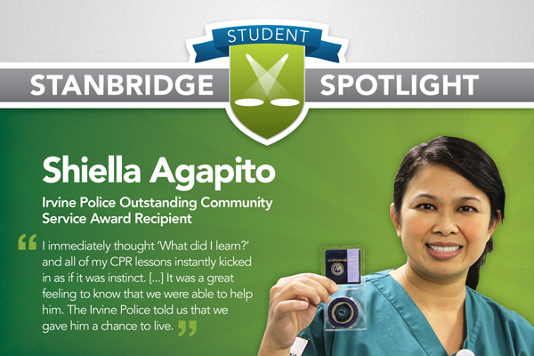 Stanbridge Student Spotlight: Nursing Student Assists in Saving Life, Receives Police Award for Service