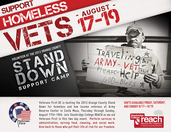 Homeless Veterans Need Our Help: 2012 Orange County Stand Down