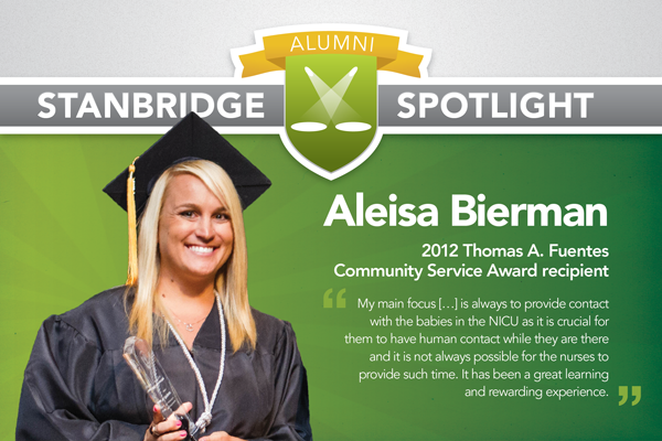 Stanbridge College Spotlight: Aleisa Bierman, 2012 Thomas A. Fuentes Community Service Award Recipient