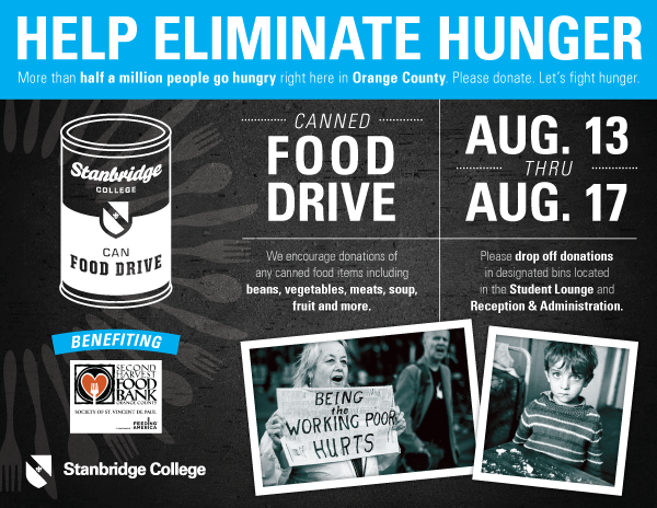 Feeding the Hungry: August Canned Food Drive Week 8/13 – 8/17