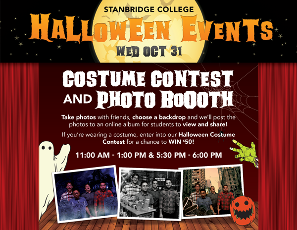 Stanbridge Gets Spooky! Halloween Photo BoOoth and Costume Contest!
