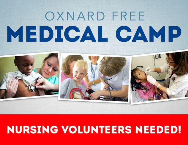Sunday 10/28 Free Medical Camp – Nursing Volunteers Needed!