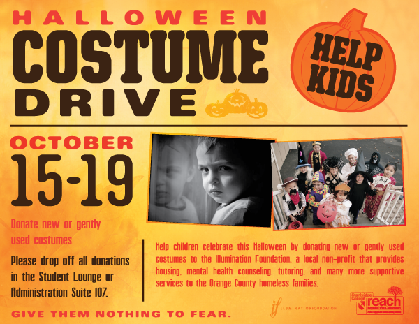 Give Them Nothing to Fear: Children's Halloween Costume Drive at Stanbridge College