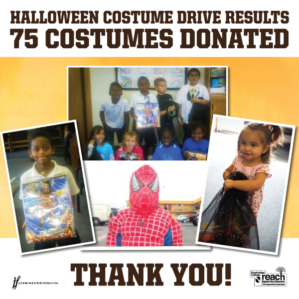 75 Homeless Children Receive Halloween Costumes from Stanbridge College