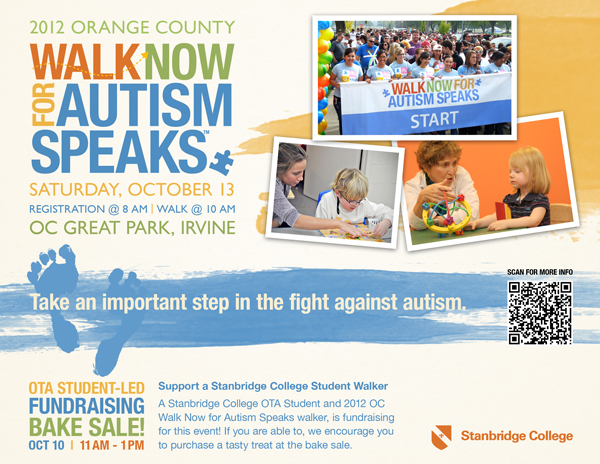 Walkers Needed for 2012 Orange County Walk Now for Autism Speaks