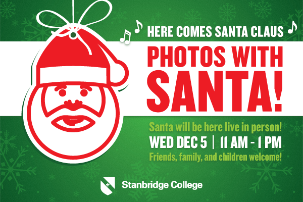 12/5 Santa Clause Photo Booth at Stanbridge College