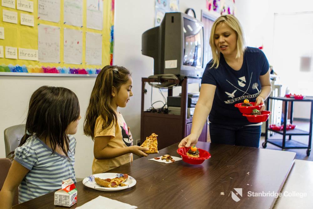 Homeless Children of Project Hope School Get Halloween Treats from Stanbridge Students