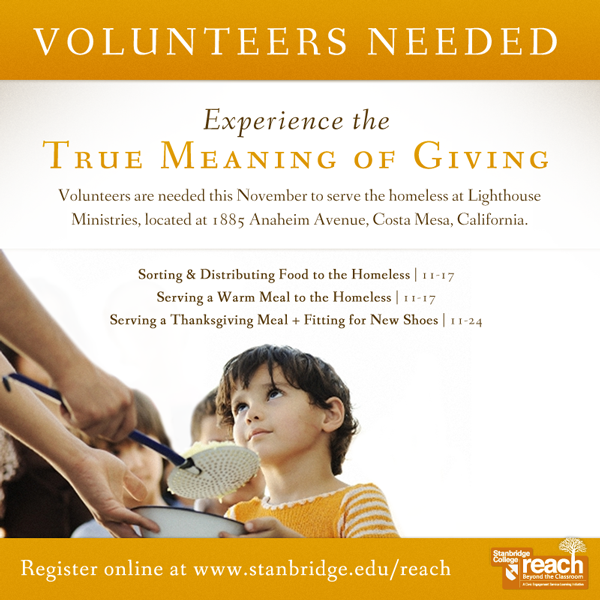 Experience the True Meaning of Giving: Volunteers Needed to Help the Homeless in November