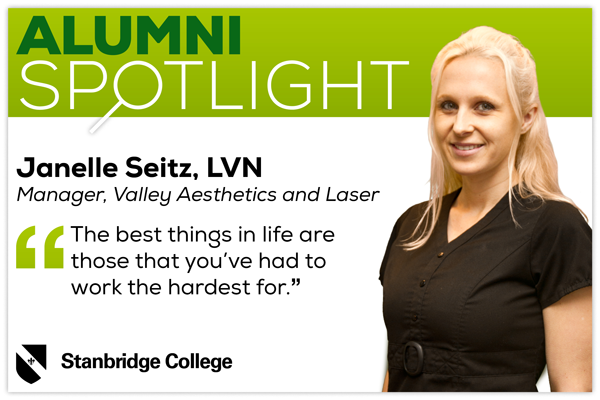Stanbridge Alumni Spotlight: Janelle Seitz, Licensed Vocational Nurse