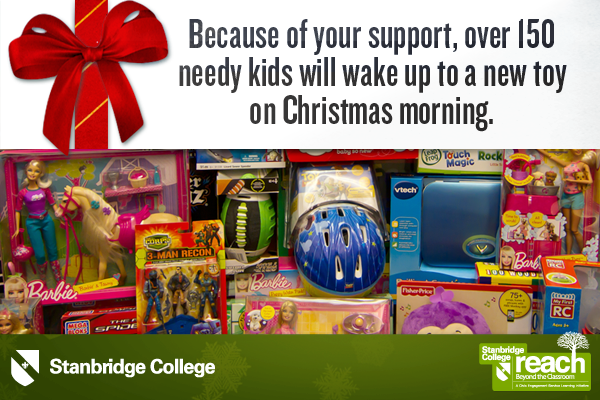 Over 150 Christmas Toys Donated to Needy Children from Stanbridge College