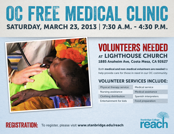 Help Orange County Stay Healthy! Volunteers Needed at Free Medical Clinic in March