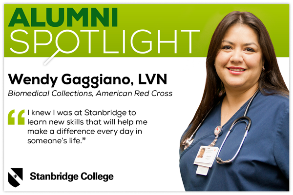 Stanbridge Alumni Spotlight: Nursing Alumnus Wendy Gaggiano, LVN