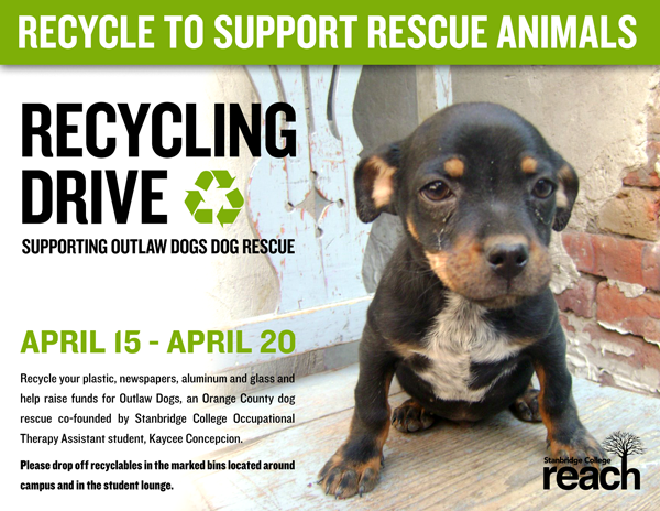Recycling Drive for Outlaw Dogs Starting April 15th