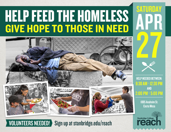 Your Chance for Change: Volunteers Needed to Help the Homeless in April