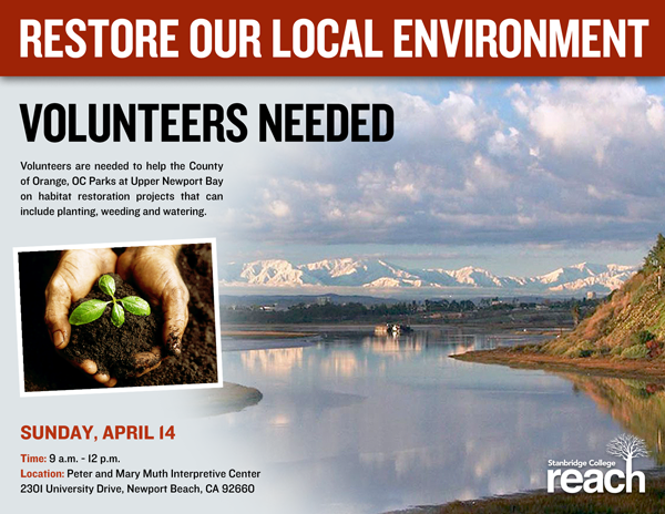 Volunteer with OC Parks and Help Celebrate the Earth on Sunday April 14, 2013