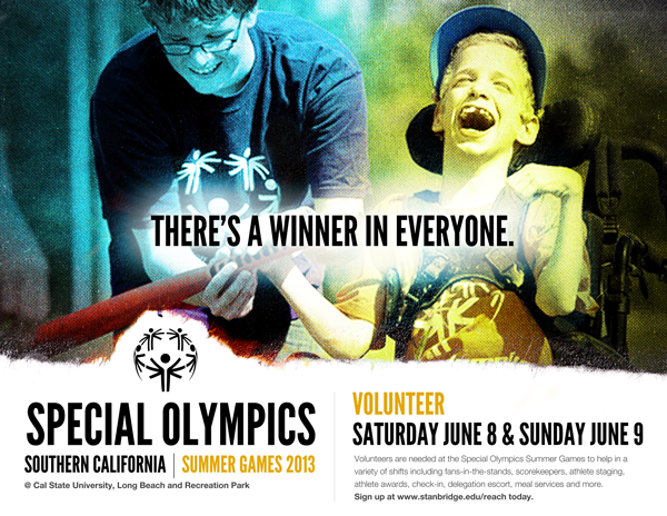 2013 Special Olympics Summer Games SoCal - Volunteers Needed June 8th - 9th