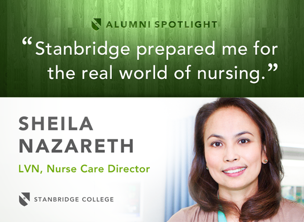 Spotlight: Nursing Alumnus, Sheila Nazareth – Proud to Be a Stanbridge Graduate