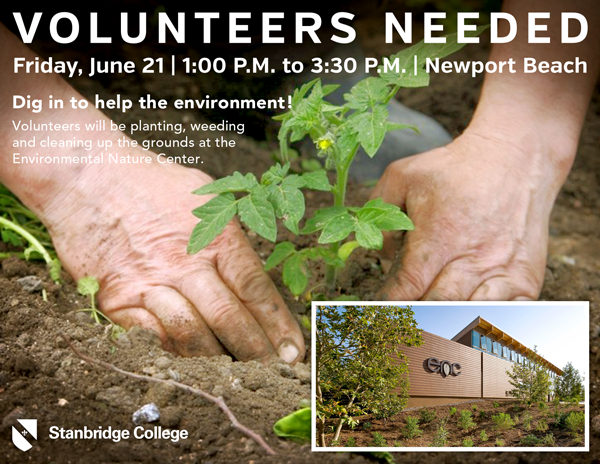 Newport Beach Environmental Nature Center Needs Volunteers, Friday June 21st