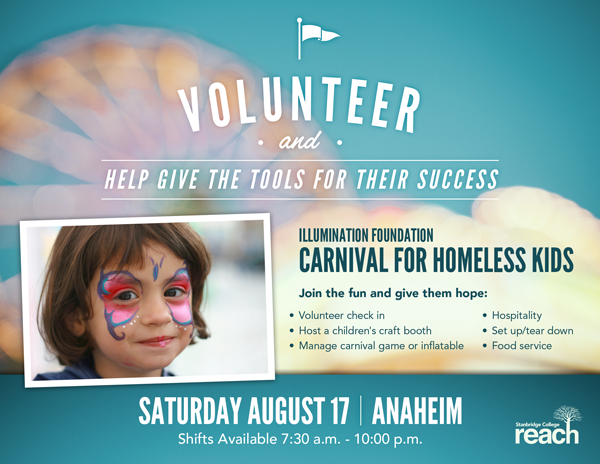 Illumination Foundation Needs Volunteers for 8/17 Carnival for Kids - Help Raise Funds for School Supplies