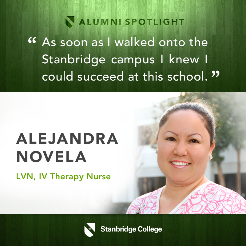 Stanbridge Spotlight: Nursing Alumnus Alejandra Novela – Climbing the Career Ladder
