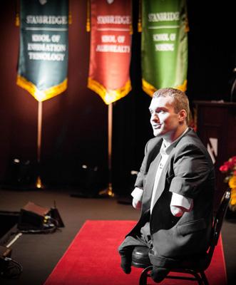Congenital Amputee Athlete Kyle Maynard Inspires Stanbridge College Graduates