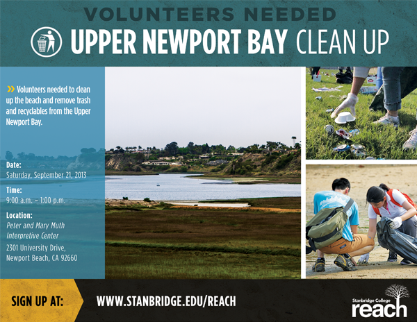 Volunteer with OC Parks at the Newport Bay Cleanup Day on 9/21/2013