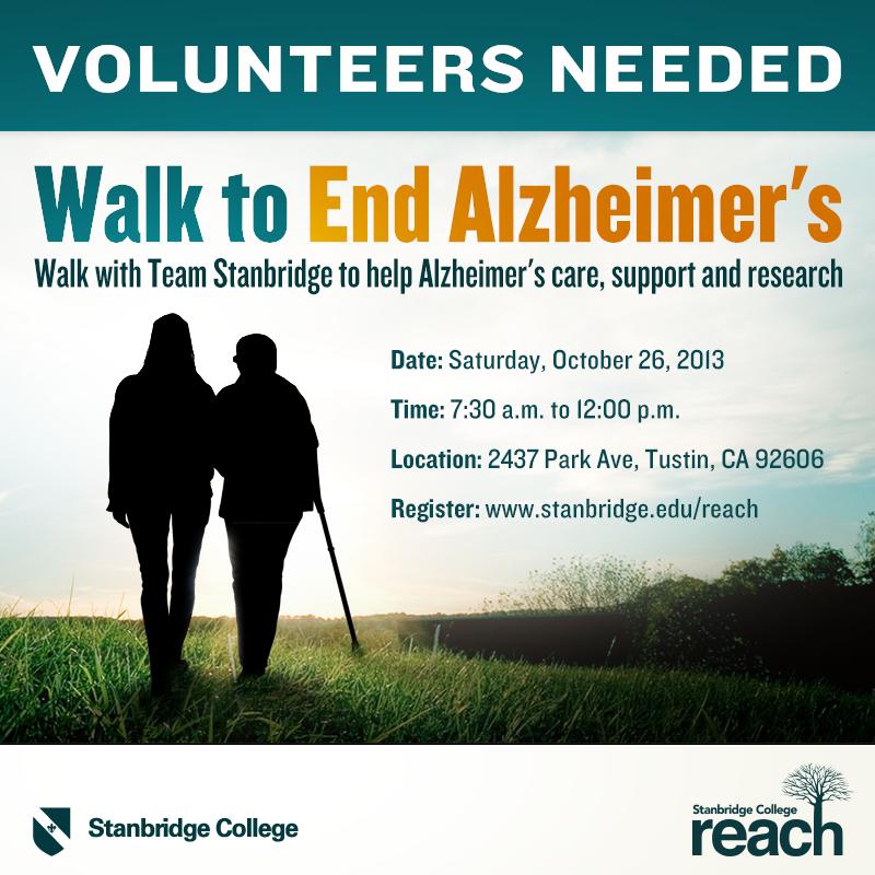10-26-13 Walk to End Alzheimer's with Team Stanbridge College