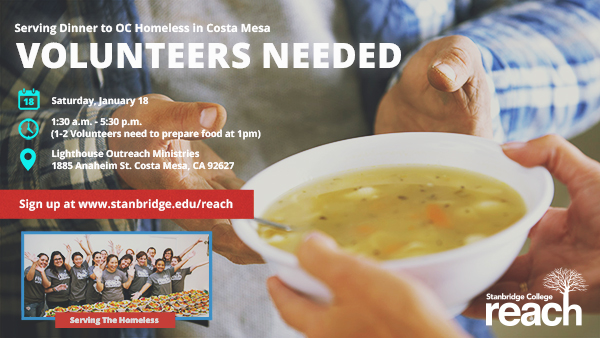 Keep Up The Compassion And Volunteer To Help Feed The Homeless With Stanbridge College REACH