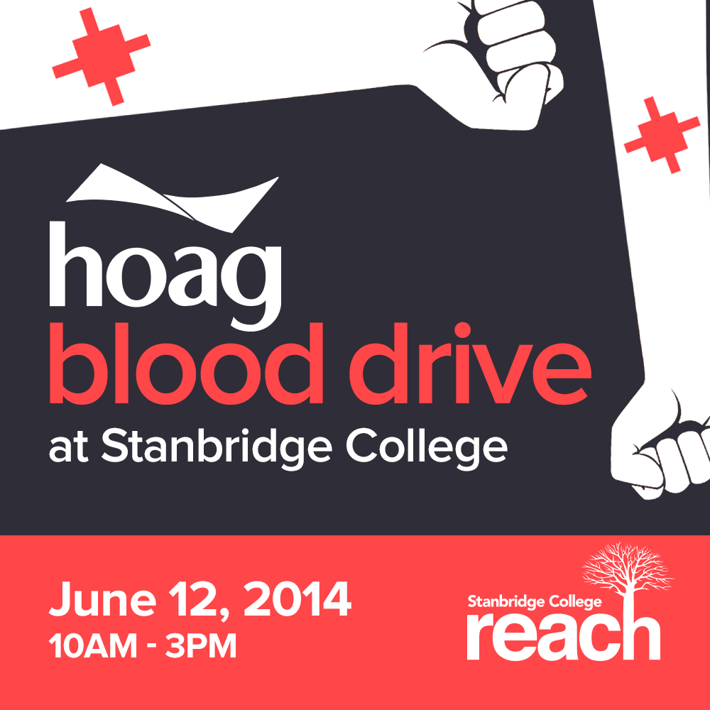 Blood Donors Needed! - 6/12  Hoag Hospital Blood Drive at Stanbridge College