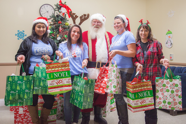 Santa Visits Pediatric Sub-Acute Patients with Toy Donations From Stanbridge College Students
