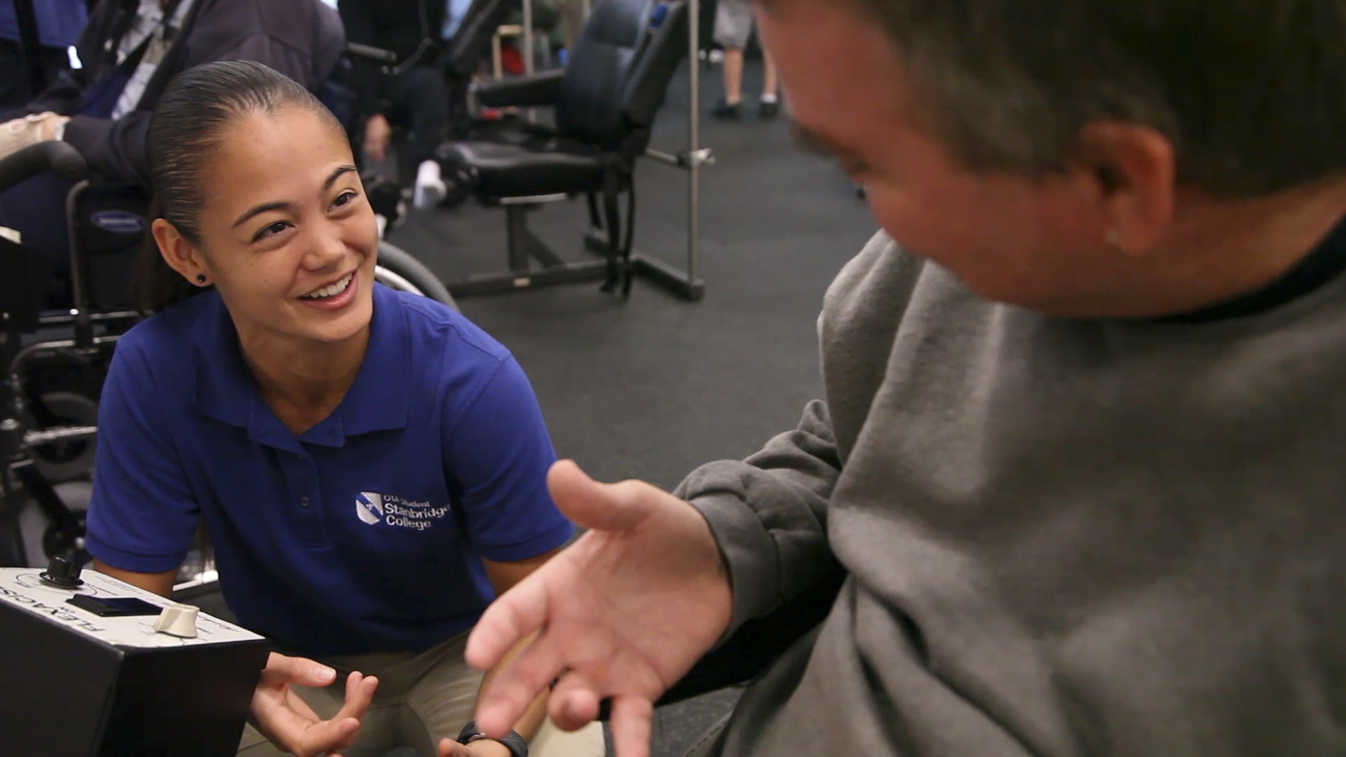 OTA Student Gets Up Close with Rehabilitation Technology through Service